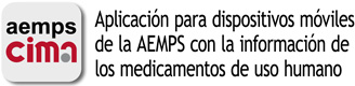 AEMPS mobile application with information of medicines for human use