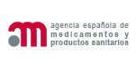 Agencia Española de Medicamentos y Productos Sanitarios Logo. Access to the homepage