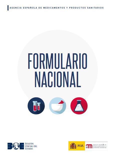 Portada de la tercera edición del Formulario Nacional