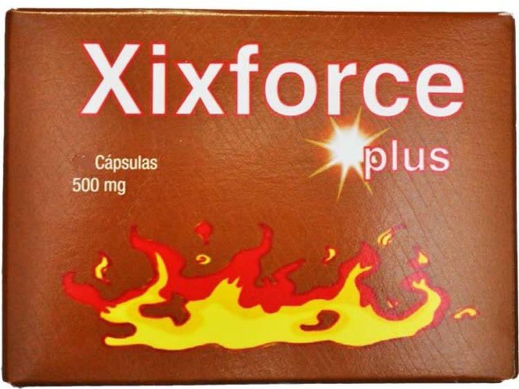 Envase del producto XIXFORCE PLUS cápsulas