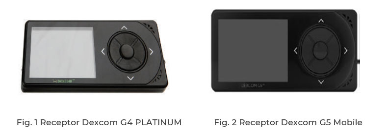 Receptor Dexcom G4 PLATINUM y Receptor Dexcom G5 Mobile