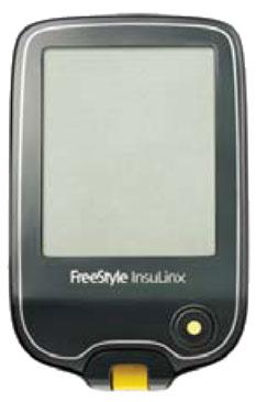 Imagen del medidor de glucosa en sangre FreeStyle InsuLinx