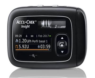 Imagen de la bomba de insulina Accu-Chek® Insight