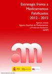 Portada del libro Estrategia frente a medicamentos falsificados 2012-2015
